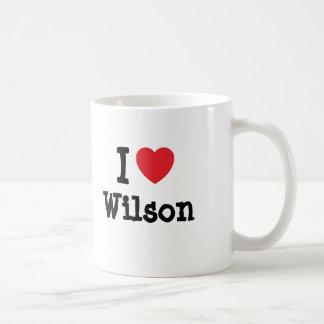 I love Wilson heart custom personalized Mugs