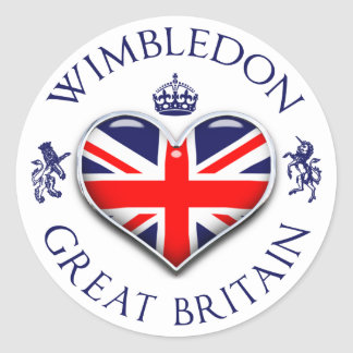 I Love Wimbledon Round Sticker