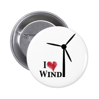 i love wind energy pinback button