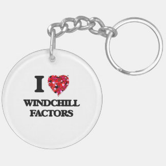 I love Windchill Factors Double-Sided Round Acrylic Key Ring