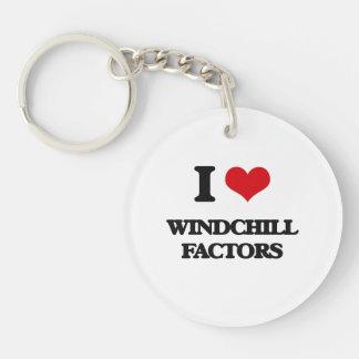 I love Windchill Factors Single-Sided Round Acrylic Keychain