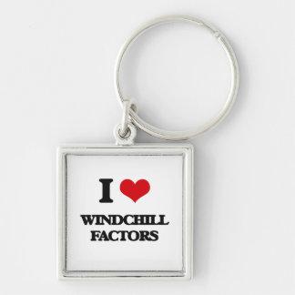 I love Windchill Factors Silver-Colored Square Keychain