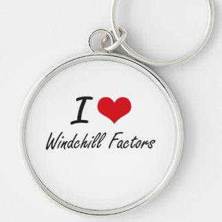 I love Windchill Factors Silver-Colored Round Key Ring