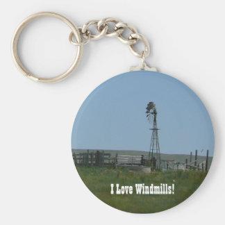 I Love Windmills! Key Ring