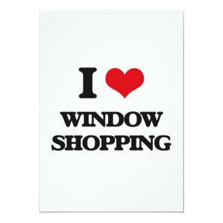 I love Window Shopping 13 Cm X 18 Cm Invitation Card