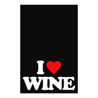 I LOVE WINE CUSTOM FLYER