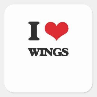 I love Wings Square Sticker