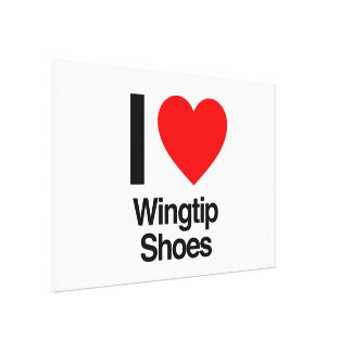 i love wingtip shoes stretched canvas print