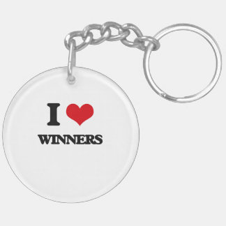 I love Winners Double-Sided Round Acrylic Keychain