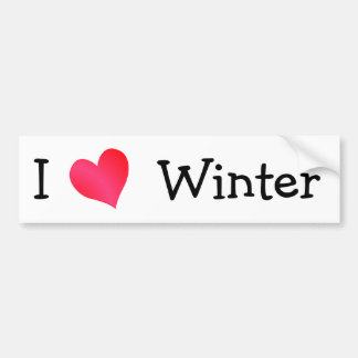 I Love Winter Bumper Sticker