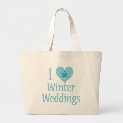 I Love Winter Weddings Bag