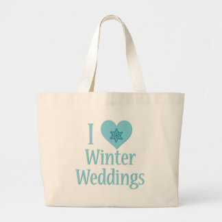 I Love Winter Weddings Jumbo Tote Bag