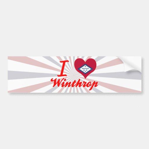 I Love Winthrop, Arkansas Bumper Stickers