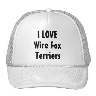 I Love Wire Fox Terriers Cap