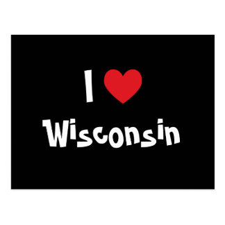 I Love Wisconsin Postcard