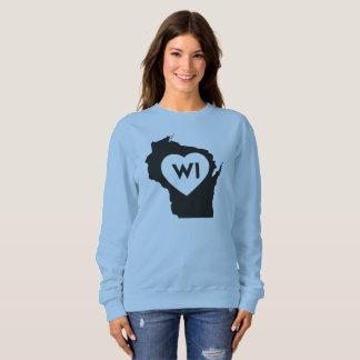 I Love Wisconsin State Women's Basic Sweatshirt