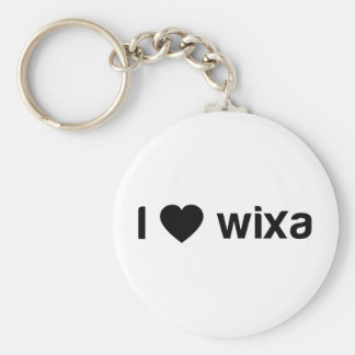 I Love Wixa Basic Round Button Key Ring