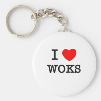 I Love Woks Basic Round Button Key Ring