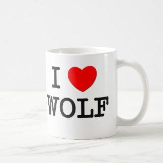 I Love Wolf Mugs