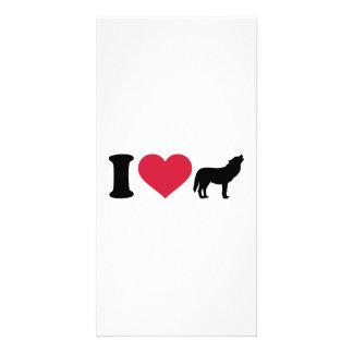 I love Wolf Customised Photo Card