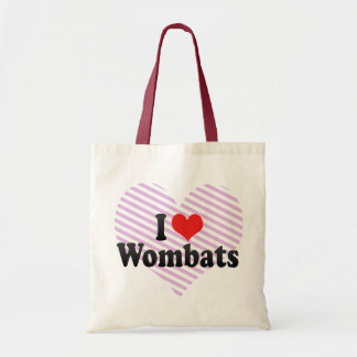 I Love Wombats Tote Bag