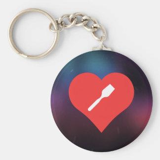 I Love Wooden Spatulas Key Ring