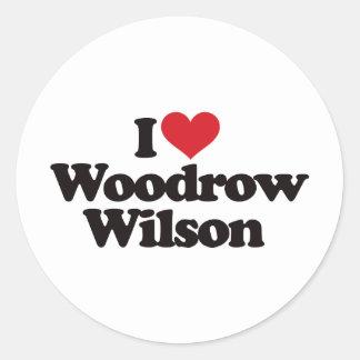 I Love Woodrow Wilson Round Sticker