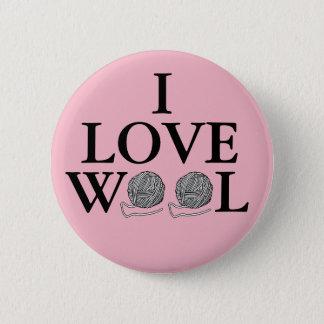I Love Wool Badge