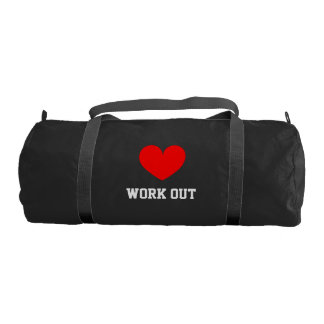 I Love work out duffle gym bag for sport Gym Duffel Bag