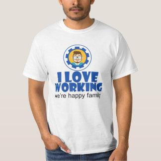 I Love Working Family Men's Value T-Shirt