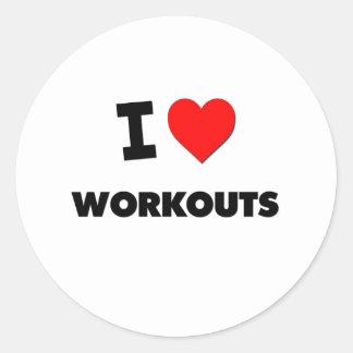 I love Workouts Round Sticker