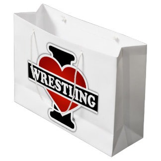 I Love Wrestling Large Gift Bag