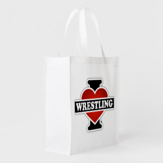 I Love Wrestling Reusable Grocery Bag