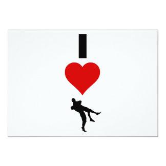 I Love Wrestling (Vertical) 13 Cm X 18 Cm Invitation Card