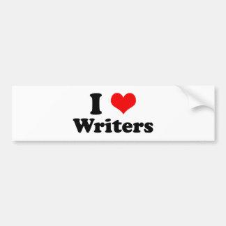 I Love Writers Bumper Sticker