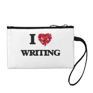 I love Writing Change Purses