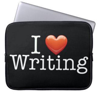 "I Love Writing Black 15"" Laptop Sleeve"