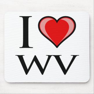 I Love WV - West Virginia Mousepads