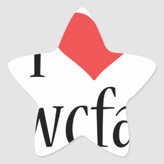 i love wwcfam products star sticker