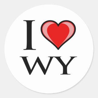 I Love WY - Wyoming Stickers
