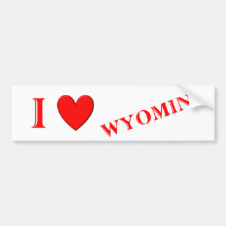 I Love Wyoming Bumper Sticker