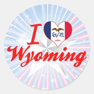 I Love Wyoming, Iowa Round Stickers