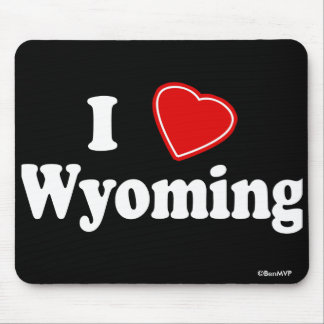 I Love Wyoming Mouse Pads