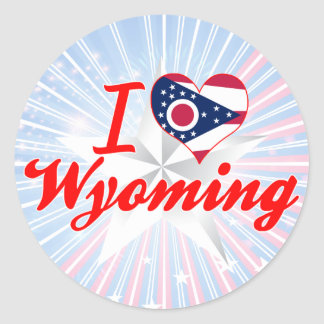 I Love Wyoming, Ohio Round Stickers
