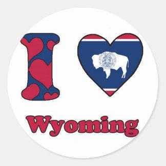 I love Wyoming Round Sticker