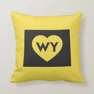 """I Love Wyoming State Throw Pillow 16"""" x 16"""""""