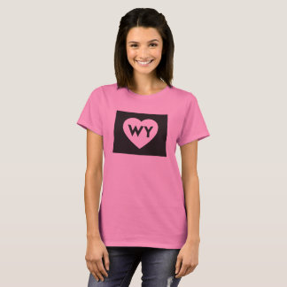 I Love Wyoming State Women's Basic T-Shirt