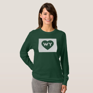 I Love Wyoming State Women's Long Sleeve T-Shirt