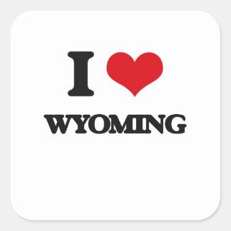 I Love Wyoming Stickers
