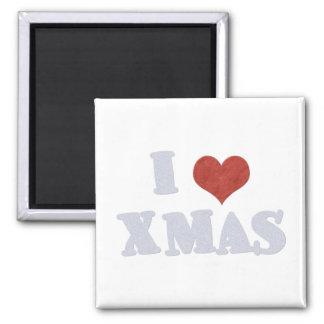 I Love Xmas Refrigerator Magnet